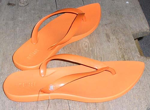 Fun Summer Sandals!  ORANGE!