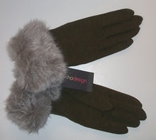 "Echo ""Faux Fur Trim Gloves"""