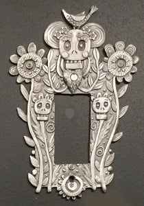 """Calavera Flora"" switchplate cover by Leandra Drumm (#157)"