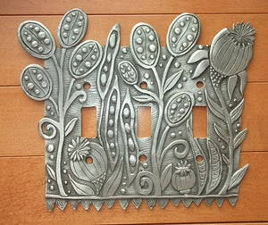 """Seed Pods"" switchplate cover by Leandra Drumm (#131)"