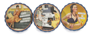 Set of 6 Coasters - (prov/tadaa/happy)