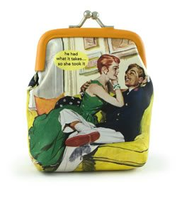 NEW!!  Anne Taintor Coin Purse~ he had what it takes... so she took it