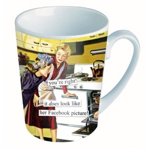 Anne Taintor Mug 'Facebook Picture'