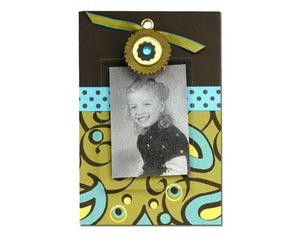 Blue Gem cute clip frame
