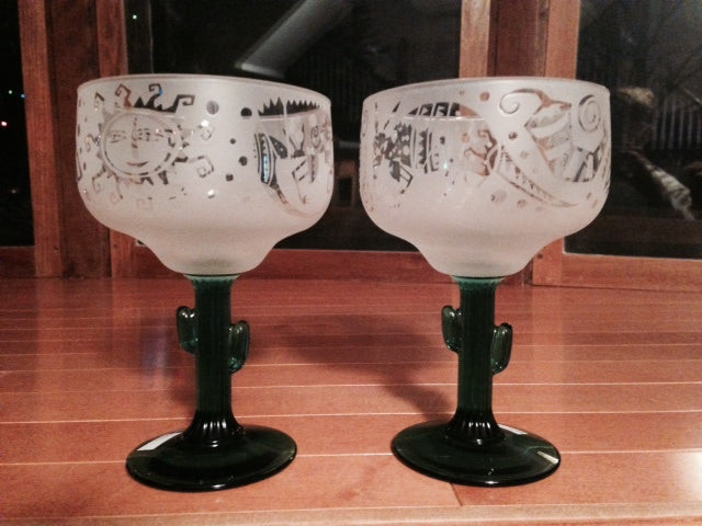 Margarita Glasses! Set of 2 by Leandra Drumm