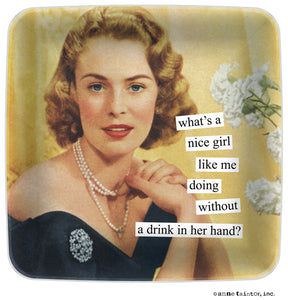 "Anne Taintor Mini Tray ""a nice girl like me"""