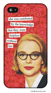 Anne Taintor Snap-On Case ~ Helpless ~ Fits iPhone 5/5s.