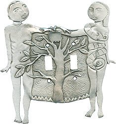 Adam and Eve Double Switchplate, Leandra Drumm (#32)