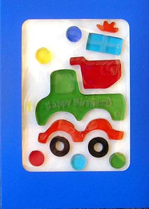 Birthday Truck GelGems Card!
