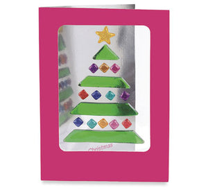 GelGems, 6 Merry Christmas Cards (tree)