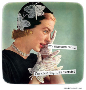 "Anne Taintor Mini Tray ""exercise"""