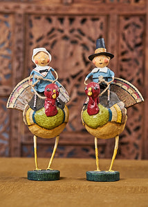 """Tom and Goodie on Gobblers"" by Lori Mitchell"