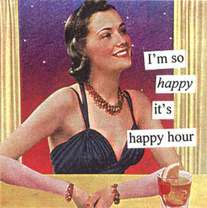 Anne Taintor napkins, Happy Hour
