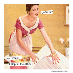 "Anne Taintor Magnet, ""I slept at the office"""