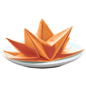 Persimmon Fancy Fold Napkins