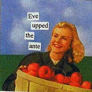 Anne Taintor magnet, Eve
