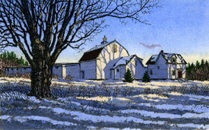 Hand Colored Etching-January, by Carol Collette