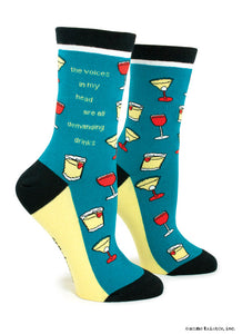 Anne Taintor Crew Socks ~ voices in my head
