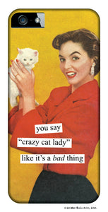 Anne Taintor Snap-On iPhone Case ~ Crazy Cat Lady ~ Compatible with iPhone 4/4S.