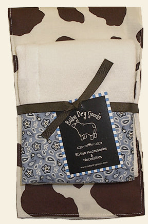 Cow & Bandana Cozy Burp Cloth Set of 2