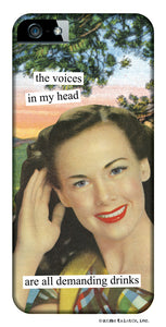 Anne Taintor Snap-On iPhone Case ~ Demanding Drinks ~ Compatible with iPhone 4/4S.