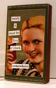 "Boxed Matches ""5 o'clock"" Anne Taintor"
