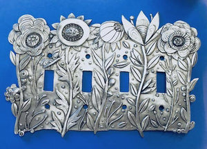 """Glorious Garden"" Switchplate, Leandra Drumm (#176)"