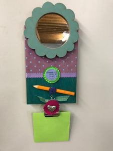 a.i. paper design Magnetic Mirror and Post-It Note Holder