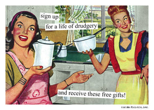 """life of drudgery"" Blank Card"