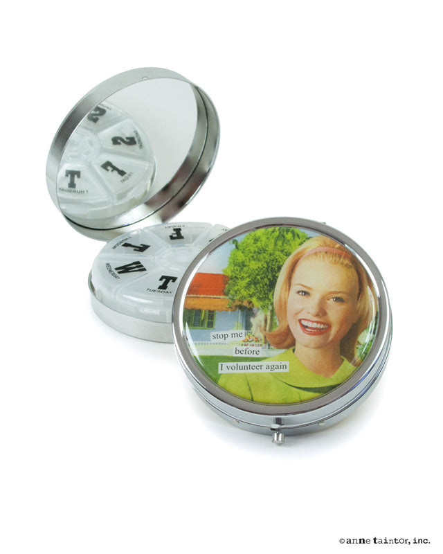 Anne Taintor Pill Compact ~ Volunteer