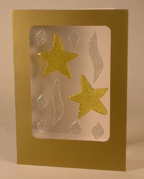 GelGems Holiday Card (glitter stars)