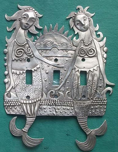 """Siren Sisters"" switchplate cover by Leandra Drumm (#133)"