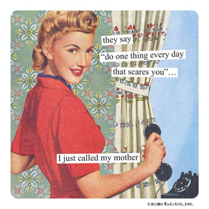 "Anne Taintor Cocktail Napkins ""I think I'll call my mother"""