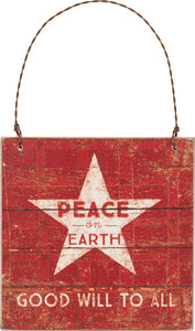 "Dan DiPaolo, ""Peace on Earth"" Sign"