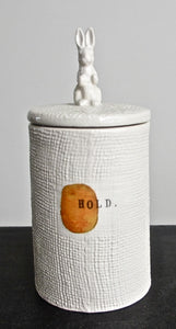 """Hold"" Ceramic Container by Rae Dunn"