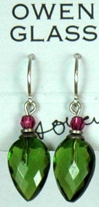 Owen Glass Earrings, Birdsong #10