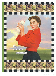 "Anne Taintor Journal ""crazy cat lady"""