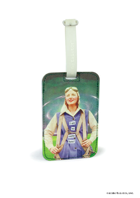 Anne Taintor Luggage Tag