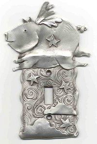 'When Pigs Fly' Switch Plate (#22)