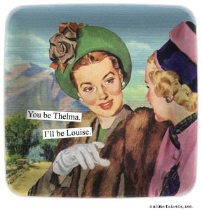 "Anne Taintor Mini Tray ""Thelma & Louise"""