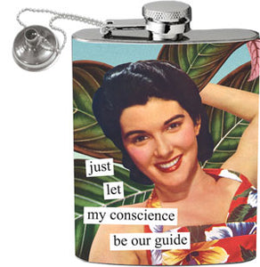 Anne Taintor Flask - my conscience