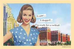 "Magnetic Postcard ""I'm ready for a cocktail"""