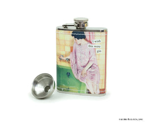 "Anne Taintor Flask ""I wish this were gin"""