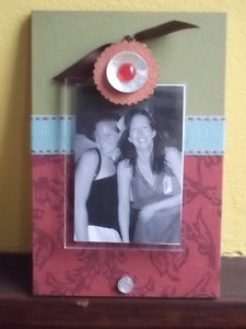 Cute clip frame - pomegranate