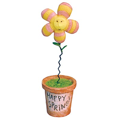 HAPPY SPRING FLOWERPOT by Dan DiPaolo