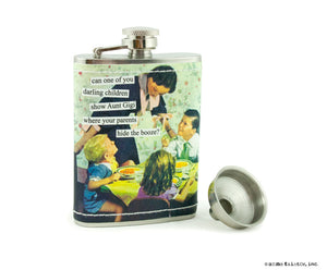 "Anne Taintor Flask ""hide the booze"""