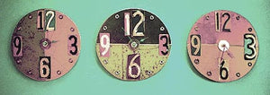 Wall Clock made from recycled signs
