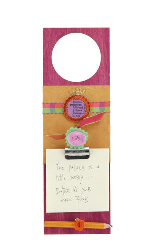 Door Hanger- Princess says