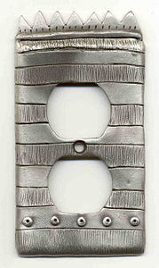 "Outlet cover, ""Striped Crown"" (#29)"