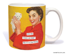 "Anne Taintor Mug  ""crazy cat lady"""